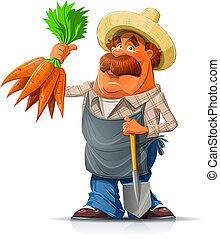 铁锨, 胡萝卜, 园丁