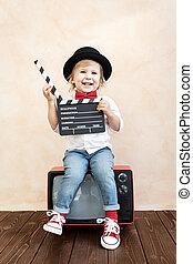 铃舌, 玩, home., 板, 孩子