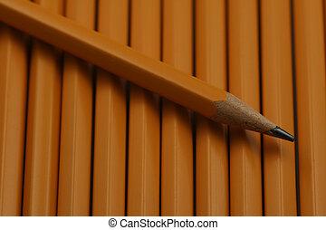 铅笔, 在上, a, 床, 在中, 铅笔
