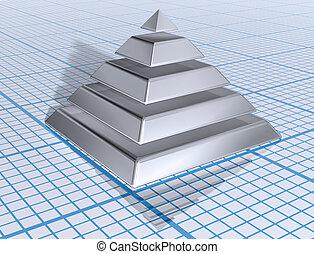 银, 层, 金字塔
