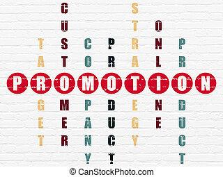 销售, 难题, 促进, concept:, 拼字游戏