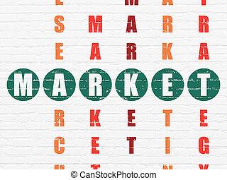 销售, 难题, 市场, concept:, 拼字游戏
