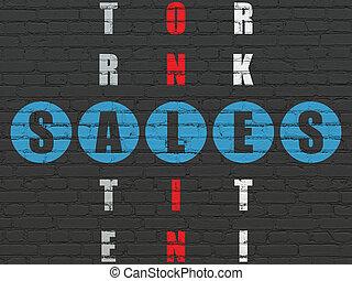 销售, 难题, 销售, concept:, 拼字游戏