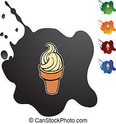 锥形物, 冰淇淋