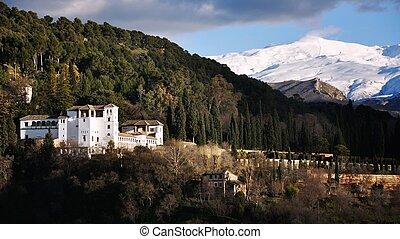 锯齿山脊nevada, granada, 西班牙