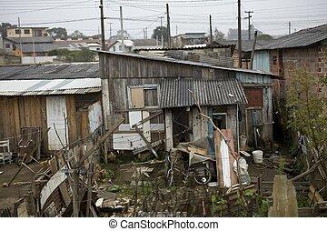 镇, 简陋小屋