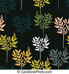長い間, パターン, design., 要素, 暗い背景, 木, のように, seamless, 変