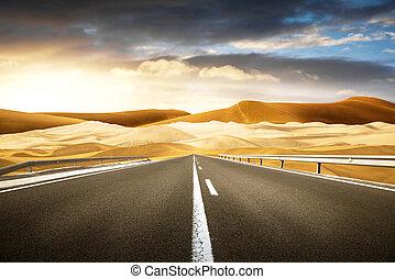 長い間, 砂漠, 道