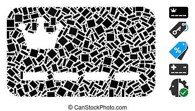 長方形, カード, vip, モザイク