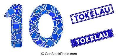 長方形, テキスト, グランジ, 10, tokelau, ディジット, 透かし, モザイク