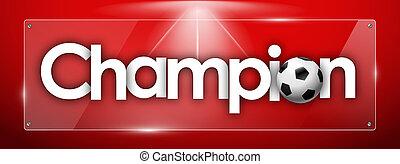 長方形, 単語, カラードの背景, チャンピオン