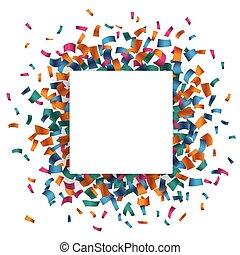長方形, 紙ふぶき, 白