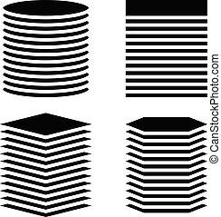 長方形, towers., 広場, 縦, versions, タンク, 六角形, 円