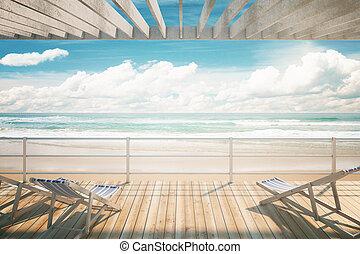 長椅子, ∥において∥, ∥, 海岸
