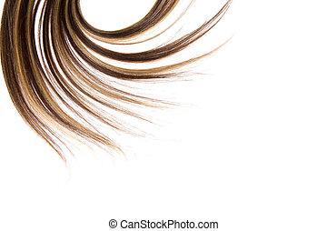 長的頭髮麤毛交織物
