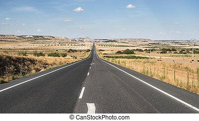 長, 瀝青, road.