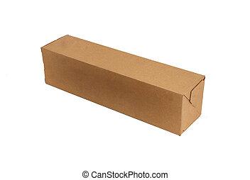 長, 紙盒, 箱子, 被隔离, 在懷特上