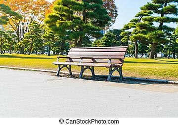 长凳, 在中, 秋季, 公园