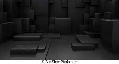 Render 长方体 摘要 墙纸 背景 几何学 3d Canstock