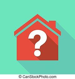 长期, 遮蔽, 房子, 带, a, 问题, 签署
