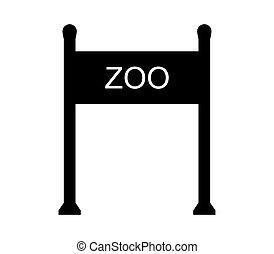 門, アイコン, 動物園