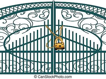 門, ナンキン錠