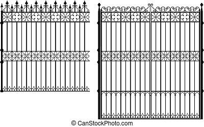 門, フェンス