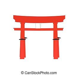 門, ベクトル, 鳥居, 日本語