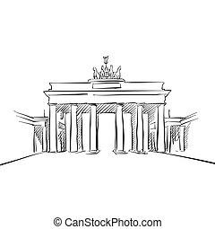 門, ベルリン, brandeburg