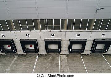 門, ローディング, 空中写真