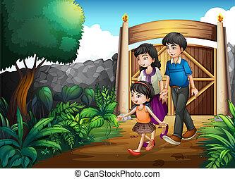 門, 中, 家族