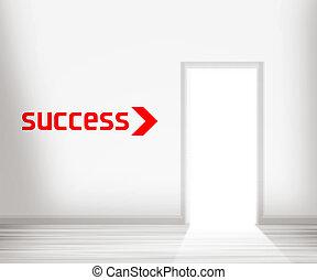 門, 到, 成功