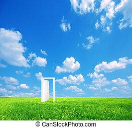 門, 到, 新, world.