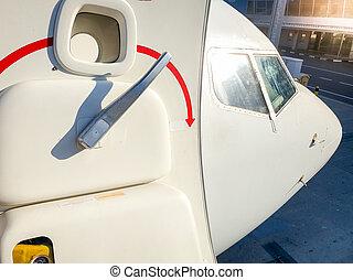 門, 圖像, 人物面部影像逼真, 處理, 飛機旅客