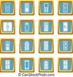 門, 圖象, 天藍色