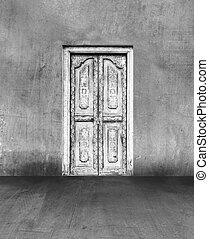 門, 在, 具体的牆
