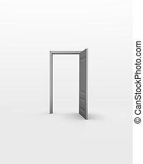 門, 在, 白的空間