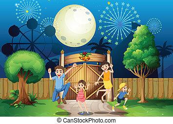 門, 家族, 幸せ