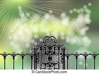 門, 庭, ライト