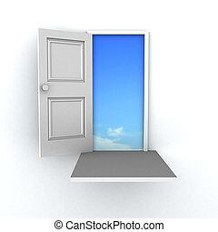 門, 成功, 3d