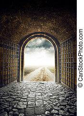 門, 打開, 到, 無窮, 路, 主要, 無處