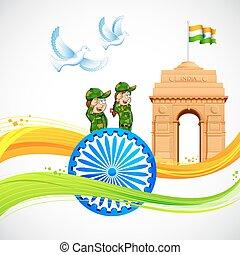 門, 旗, indian, インド