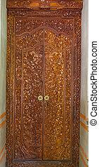 門, 木頭, 雕刻