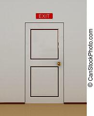 門, 由于, an, 題字, 上, the, 門, 出口