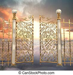 門, 真珠のよう