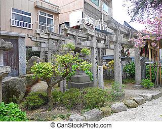 門, 神社, 日本, 神道, 福岡