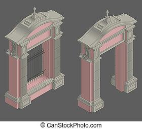 門, 等大, ベクトル, 入り口