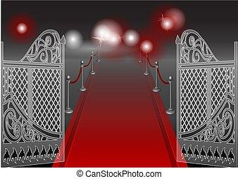 門, 赤いカーペット