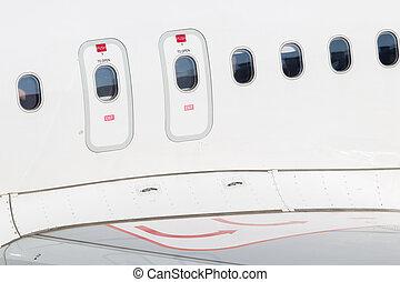 門, eemergency, 出口, 飛機