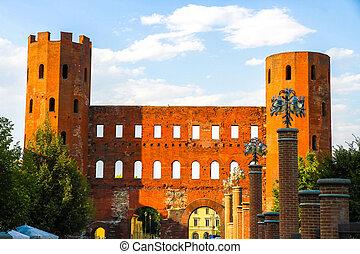 門, palatine, トリノ, 光景